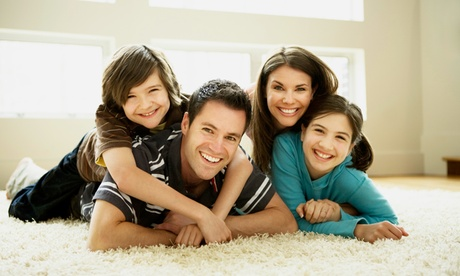 Residue-Free Carpet Cleaning for Three or Five Rooms from Clean Green (Up to 57% Off). Three Options Available.