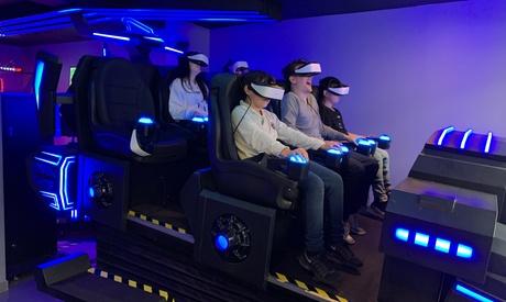 1 partie test (hors la cage VR) ou 1 forfait de jeux de 30 minutes ou d'1h au choix dès 5,90 € avec VR Land
