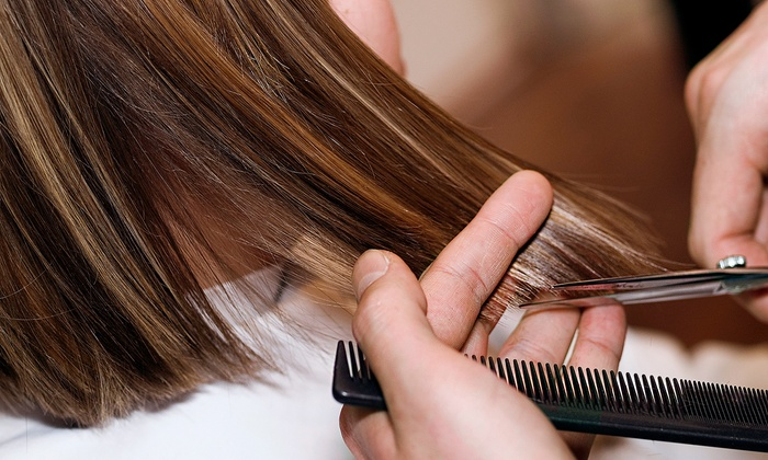 Synergy Salon & Spa - Ward 2: Cut and Scalp Treatment or Brazilian End Treatment with Options for Color at Synergy Salon & Spa (Up to 65% Off)