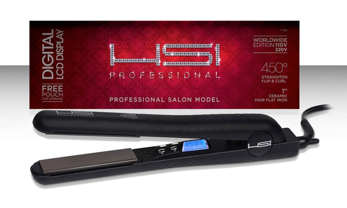 HSI Professional 1-Inch Digital Flat Iron Hair Straightener: HSI Professional 1-Inch Digital Flat Iron Hair Straightener. Free Returns.