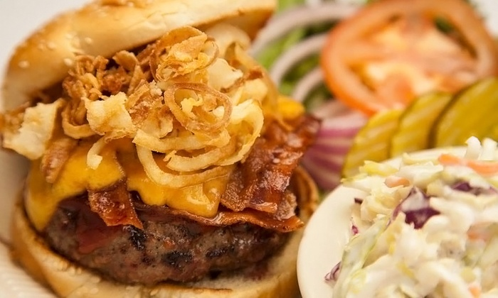 Moe's Burger Joint - Historic Arcade Mall: Burger Meals with Fries and Milkshakes for Two or Four at Moe's Burger Joint (Up to 44% Off)