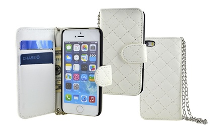 Quilted Wallet Case for iPhone 4/4s, iPhone 5/5s, or iPhone 5C