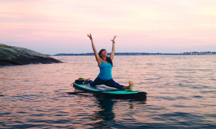 SUP YO - Multiple Locations: One or Three Paddleboard-Yoga Classes at SUP YO (Up to 53% Off)
