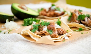 The Urban Taco Shop: Mexican Street Food for Two or Four at The Urban Taco Shop (40% Off). Two Options Available.