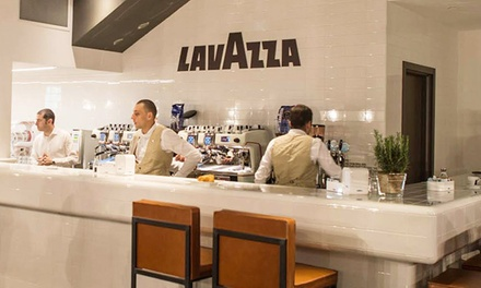 Cafe Meal for Two with Drinks, Cheese, and Dessert, or Espresso and Café Cuisine at Lavazza Espression (50% Off)