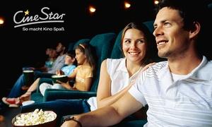 CineStar: 5 CineStar Kinogutscheine für 2D-Filme inkl. Sitzplatz-Zuschlag(50% sparen*)