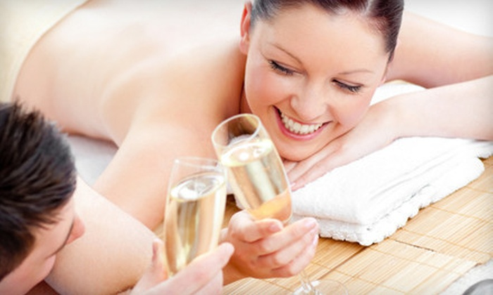 J Salon & Spa - Deerfield: $125 for a Couples Package with Massage, Pedicure, and Champagne at J Salon & Spa (Up to $250 Value)