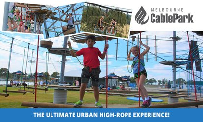 Ultimate High Ropes Experience, Kids Course ($19) or Adults course ($29) at Melbourne Cable Park (Up to $59 Value)