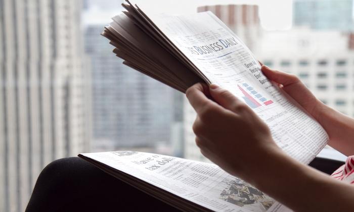 """Butler Eagle: """"Butler Eagle"""" Newspaper Delivery for 26 or 52 Weeks (Up to 57% Off)"""