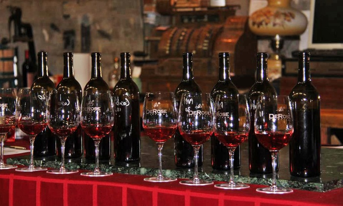 DeRose Winery - Hollister: Wine Tasting for Two or Four with Bottles, or Tasting for Two with History at DeRose Winery (Up to 64% Off)