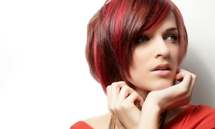 Women's Cut and Style with Partial or Full Highlights at The Angry Chair (Up to 53% Off)