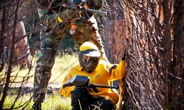 Pev's Paintball Park - Aldie: $59 for Day of Paintball for Three Including Gear Rental and 100 Paintballs Each at Pev's Paintball Park ($311.40 Value)