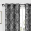"""Wexley Home Blackout Woven Damask 76""""x84"""" Grommet Panel Pair"""