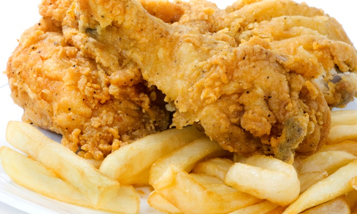 Grand J Fish & Chicken - Lawrenceville: Chicken and Fish Combo for Two, or 10 Wings and Drinks for Two at Grand J Fish & Chicken (Up to 50% Off)