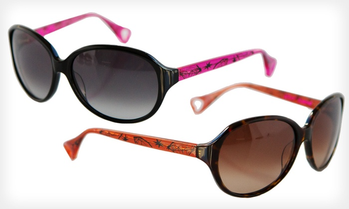 Material Girl Sunglasses: $39 for Material Girl Sunglasses by Betsey Johnson ($225 List Price). Four Colors Available.