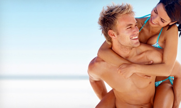 Tropical Tan Inc. - Multiple Locations: Three UV-High Pressure Bed Tans or Three or Five Mystic Spray Tans at Tropical Tan Inc. (Up to 56% Off)