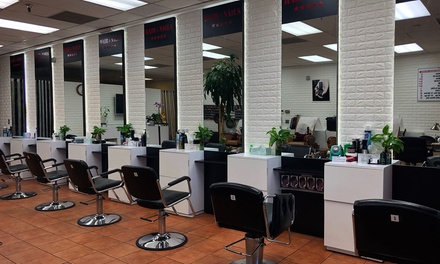 Hair Services at 5 Stars Hair & Nails (Up to 62% Off). Three Options Available.