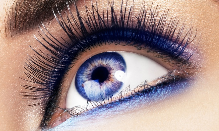 For The Love Of Lashes - Sandy: Full Set of Eyelash Extensions with Optional Fill-In or Brow Sculpting at For The Love Of Lashes (Up to 60% Off)