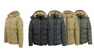 Men's Heavyweight Snorkel Jacket with Faux Fur-Lined Detachable Hood