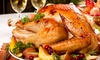 Sheba Foods - Lake Lucerne Estates: African-Style Turkey Dinner with Turkey, Stuffing, Sauce, and Option for 3 or 6 Sides (Up to 60% Off)