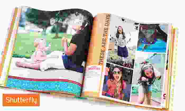 Custom Photo Book from Shutterfly: 8x8 or 8x11 Custom Photo Book from Shutterfly (Up to 67% Off)