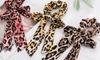 Leopard Print Scrunchie Hair Tie