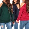 Women's Open-Shoulder Hooded Sweater
