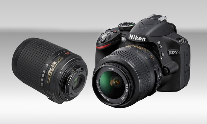 Nikon D3200 24.2MP CMOS Digital SLR Camera with One or Two Lenses: Nikon D3200 24.2MP CMOS Digital SLR Camera with One or Two Lenses (Refurbished). Free Returns.