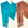 Wool-and-Silk Fringe Scarves (2-Pack)