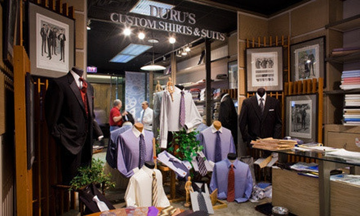 Duru's Custom Shirts and Suits - Multiple Locations: Four Custom Shirts or a Custom Men's Wool Suit with Shirts and Ties at Duru's Custom Shirts and Suits (Up to 56% Off)