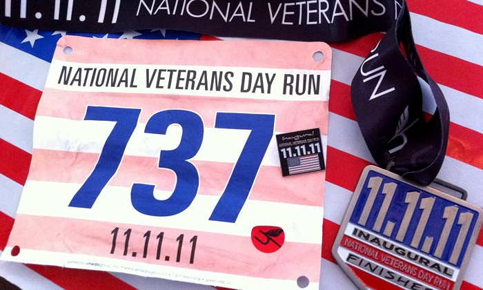 National Veterans Day Run - Memorial Park: One or Two Groupons, Each Good for Entry to the National Veterans Day Run 5K on November 16 (Up to 52% Off)