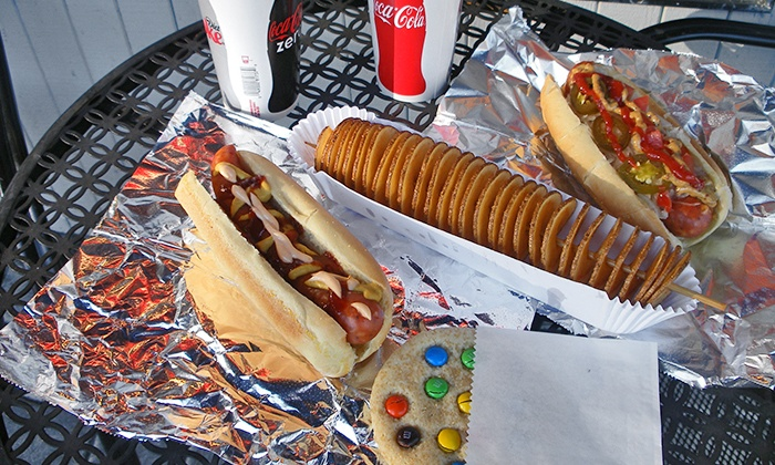 Roxy Dawgs - Multiple Locations: $7 for $13 Worth of Hot Dogs, Sausages, Fries, and Sodas at Roxy Dawgs