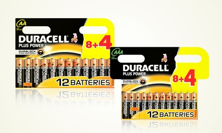 Duracell Plus Power Batteries from £3.98 (Up to 68% Off)
