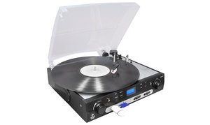 PyleHome Digital Turntable with USB/SD Recording