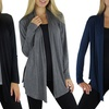 3-Pack of Free to Live Women's Draped Cardigans