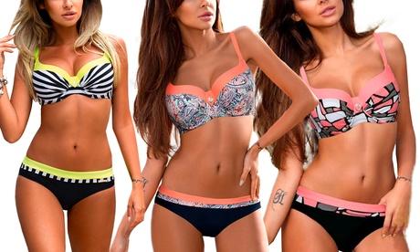 Bikini Crira con estilo push up Oferta en Groupon