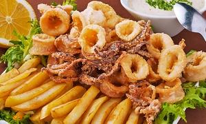 Le Voiliers 2: Menu con 1 kg di frittura di pesce e vino da 19,90 € sul mare