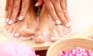 Angie Lembcke at On Broadway Salon & Spa: Mani-Pedi Package with Paraffin Wax, Scrub, and Massage from Angie Lembcke at On Broadway Salon & Spa (57% Off)
