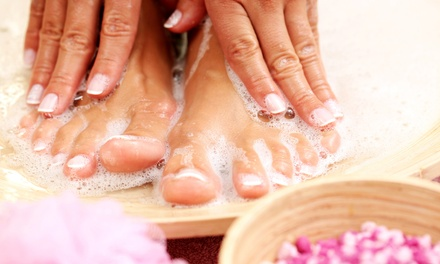 Mani-Pedi Package with Paraffin Wax, Scrub, and Massage from Angie Lembcke at On Broadway Salon & Spa (57% Off)