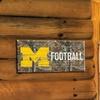 NCAA Realtree Football Sign with Team Logo
