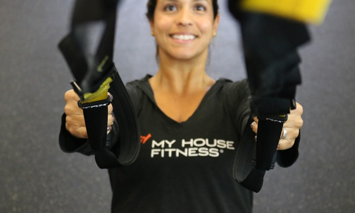 My house Fitness, inc - Multiple Locations: Five or Ten Premium Fitness Classes at My House Fitness (Up to 54% Off)