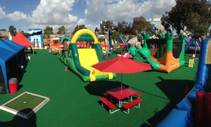 Inflatable World: All-Day Unlimited Play for One, Two, or Four Children at Inflatable World (Up to 50% Off)