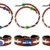 NFL Spiral Football Necklace and Bracelet Set