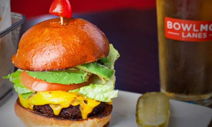The Stadium Grill at Bowlmor Lanes - Theater District - Times Square: Craft-Beer-and-Burger Event for One or Two at Bowlmor Times Square (Up to 68% Off)