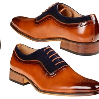 Deals on Gino Vitale Mens Lace Up Medallion Toe Dress Shoes