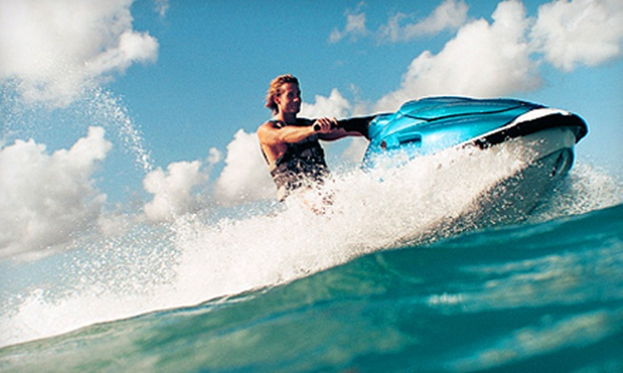 Sports Adventure Marina - Elephant Butte: Four-Hour Rental of a Jet Ski, Pontoon Boat, or Ski Boat from Sports Adventure Marina (Up to 52% Off)