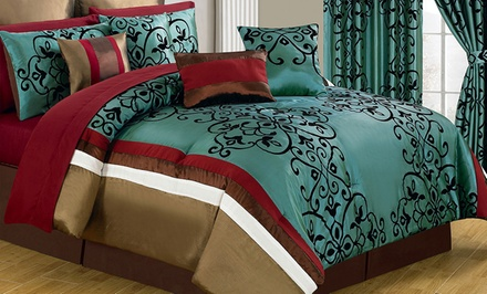 groupon daily deal - Bedroom in a Bag; 24-Piece Queen Set or 25-Piece King Set from $129.99–$139.99. Free Returns.