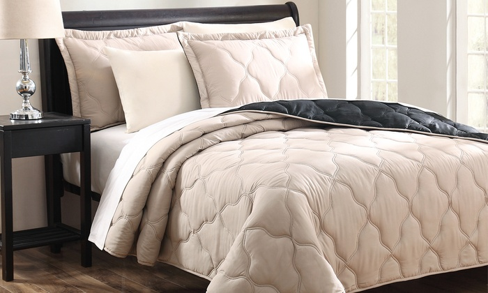 Reversible Quilted Coverlet Set Groupon Goods
