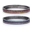 Gemstone Bangle Bracelet 3-Pack