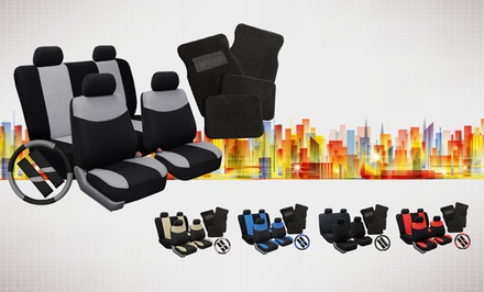 Universal-Fit Car-Seat Cover Combo Set